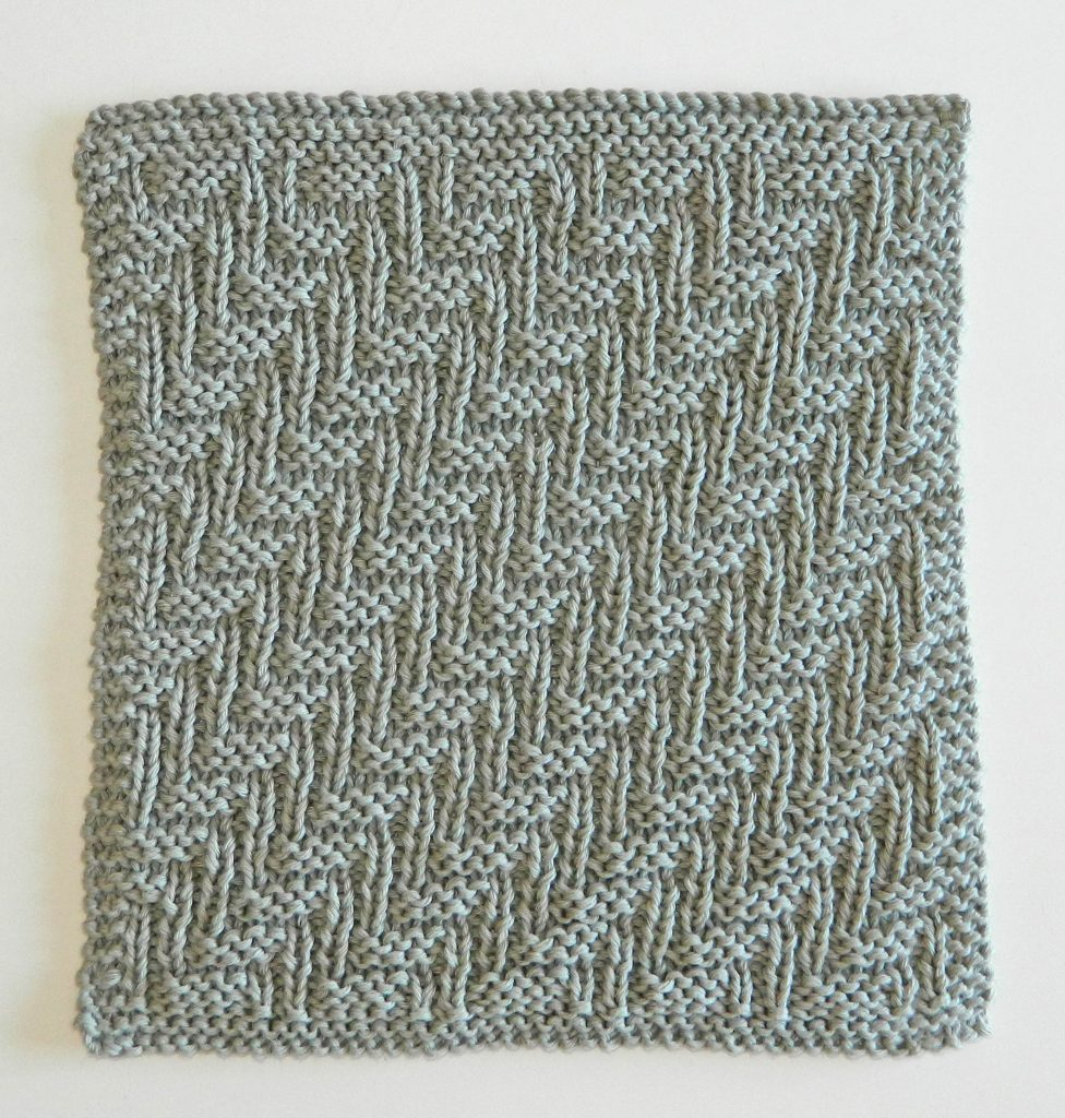 Dishcloth In Spanish: BLOCK 6 Of 12 Blocks Of Xmas Knitted Blanket
